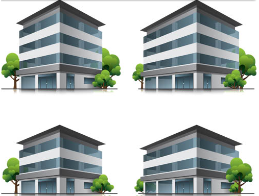 507x384 Different 3d Buildings Set Ai Format Free Vector Download