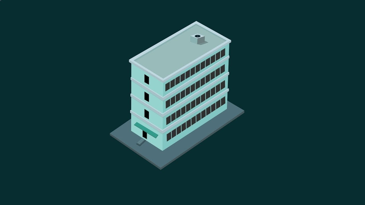 1280x720 Isometric 3d Building Illustration In Illustrtor !! Isometric