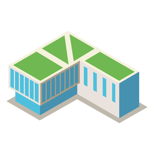 512x512 Isometric 3d Library Building