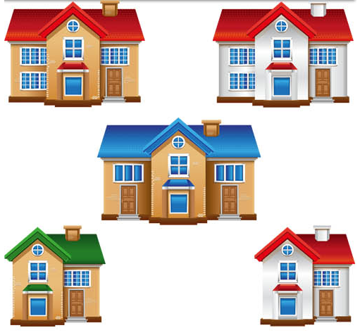 511x476 3d Buildings Free Vector 2 Ai Format Free Vector Download