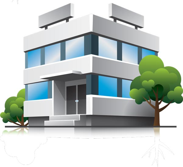 600x547 3d Houses And Office Buildings Vectors