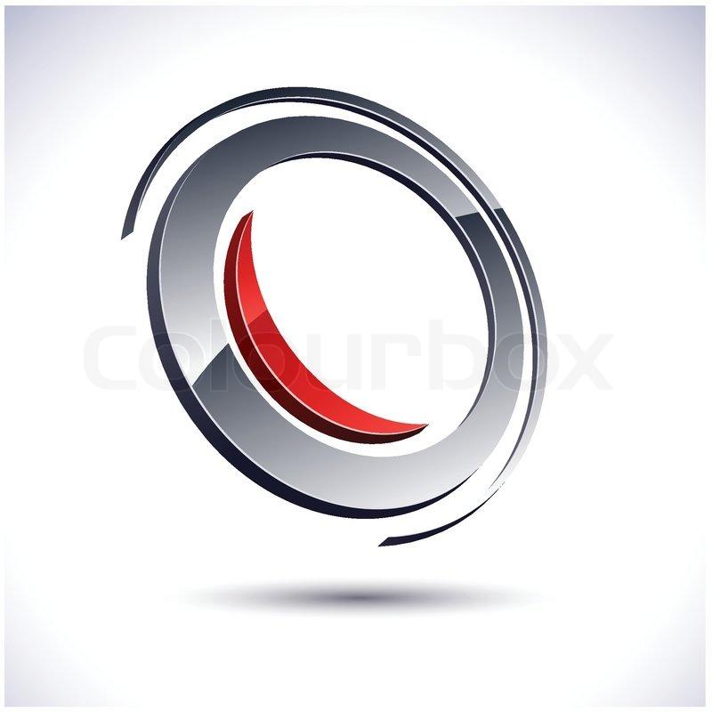 800x800 Abstract Modern 3d Round Logo. Vector. Stock Vector Colourbox