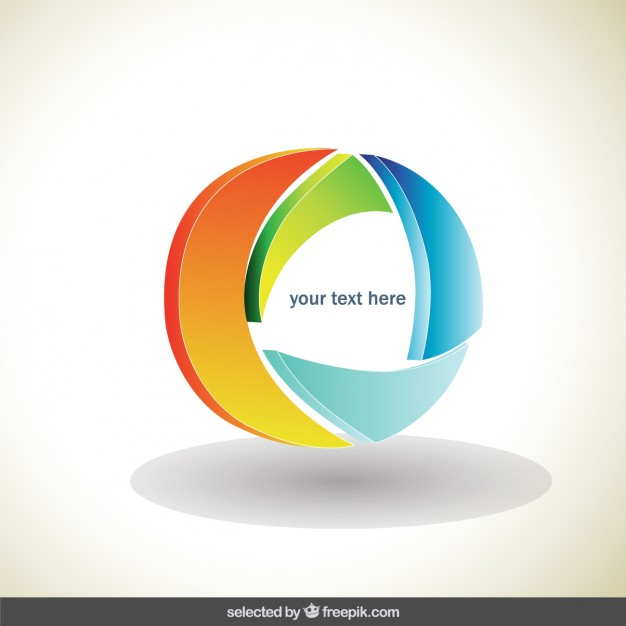 626x626 Circle Colorful 3d Logo Vector Free Download