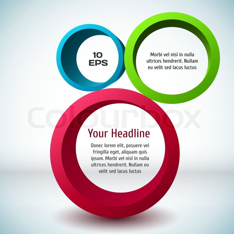 800x800 Colorful 3d Circle Background. Vector Illustration For Your Design