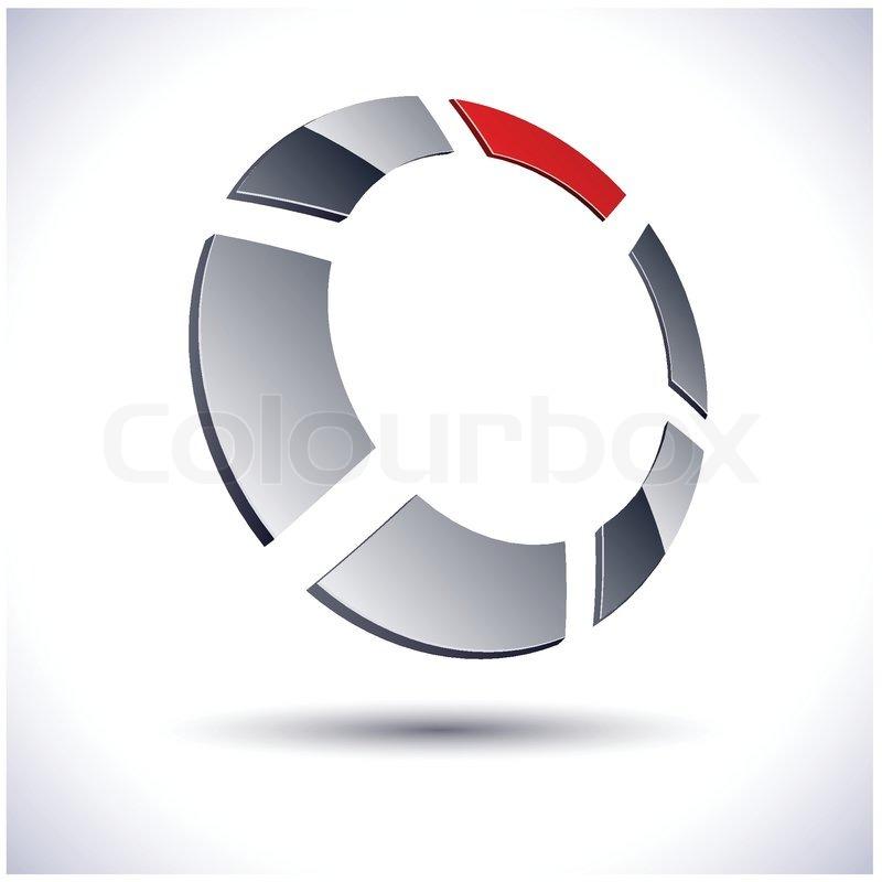 800x800 Illustration Of 3d Round Logo Stock Vector Colourbox