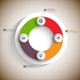 268x268 Infographics Vector Illustration With Circles Vectors Stock For