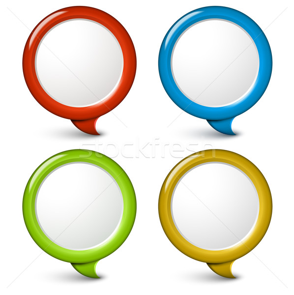 598x600 Set Of Vector Round Simple 3d Bubbles Vector Illustration Petr