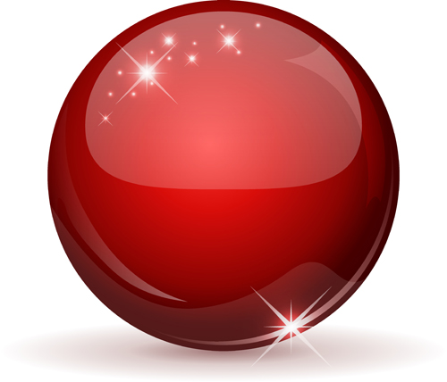 500x428 Shiny 3d Glass Sphere Vector Background 03 Free Download