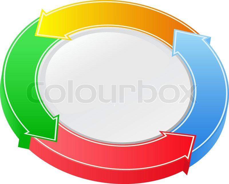 800x645 Vector 3d Arrow Circle Stock Vector Colourbox