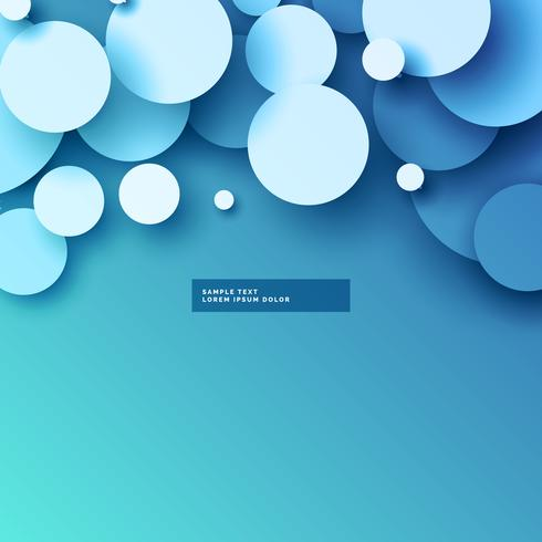 490x490 Blue Background With 3d Circles Design