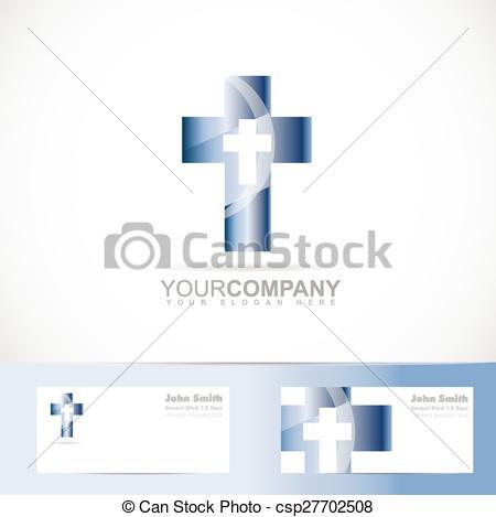 450x469 Blue Cross 3d Metal Logo. Vector Logo Template Of A Blue Cross 3d