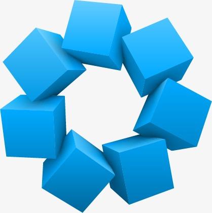 418x420 3d Cube Decoration Pictures, Cube Vector, Decoration Vector, 3d