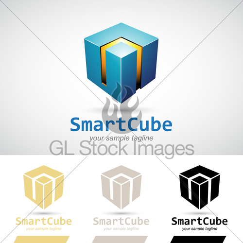 500x500 3d Cube Vector Icon Gl Stock Images