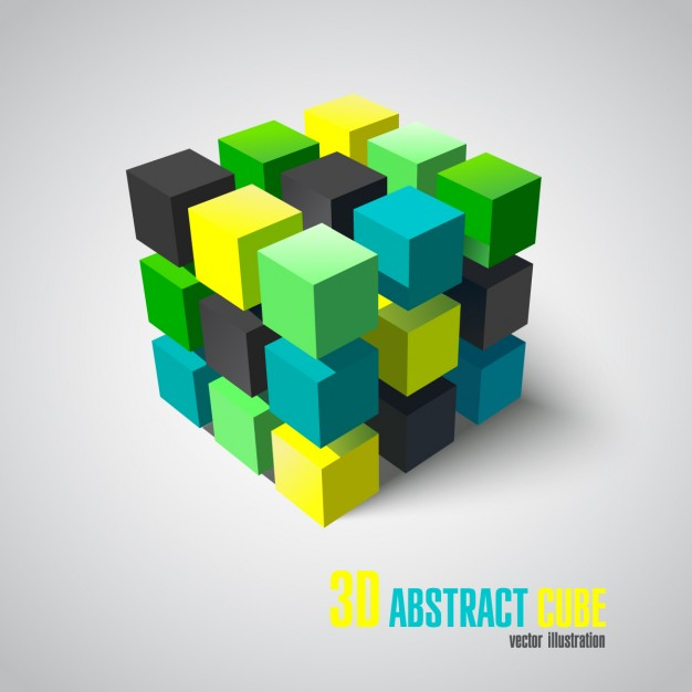 626x626 3d Abstract Cube Vector Free Download