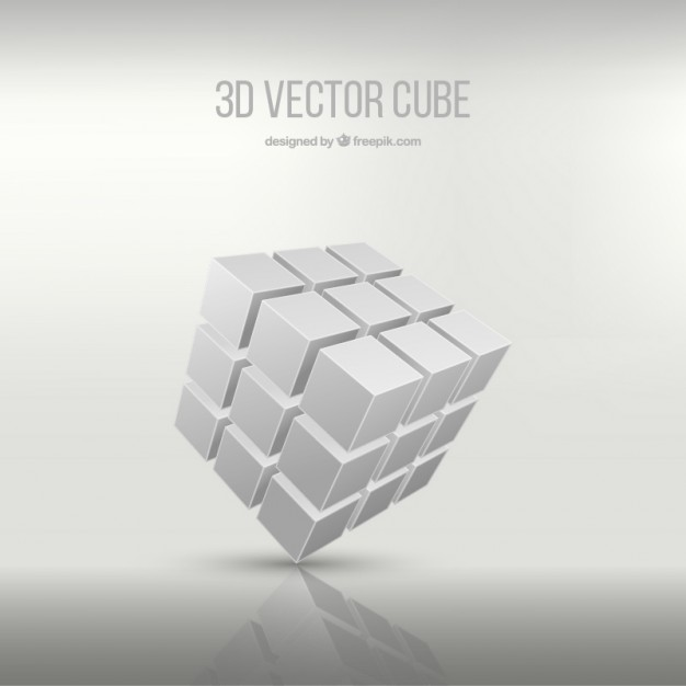 626x626 3d Cube Vector Free Download