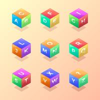 200x200 Abstract 3d Cube Banner Free Vector Art