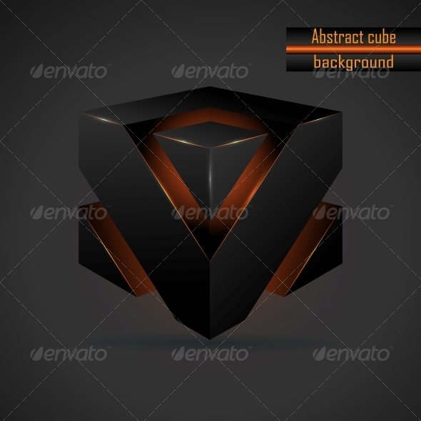590x590 Abstract Black 3d Cube Vector By Meilun Graphicriver