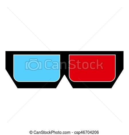 450x470 3d Glasses Vector. Image Of 3d Glasses Isolate On White... Vector