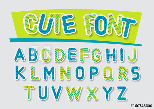 500x354 Concept Of Vector Festive Alphabet. Blue And Green 3d Letters With
