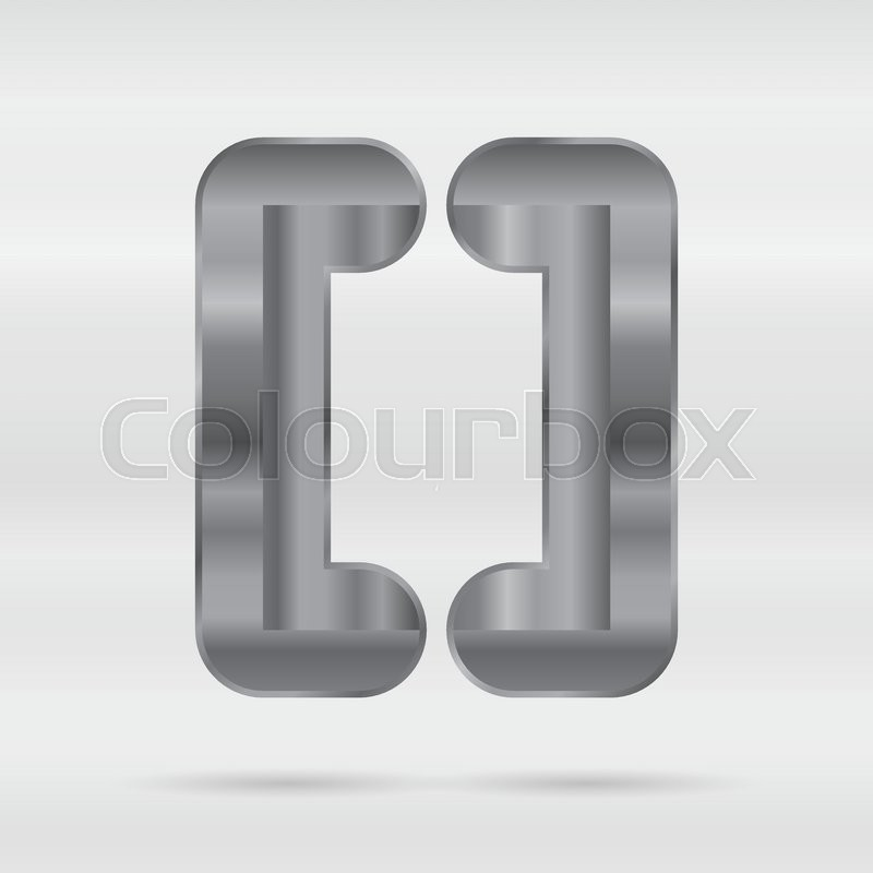 800x800 Metallic Alphabet. Set Of Stainless 3d Letters. Vector Punctuation