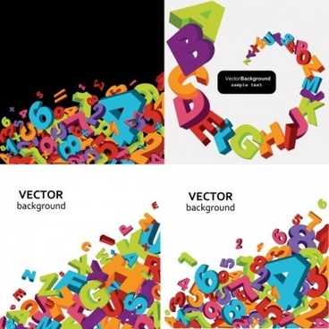 368x368 Vector 3d English Letters Free Vector Download (5,248 Free Vector