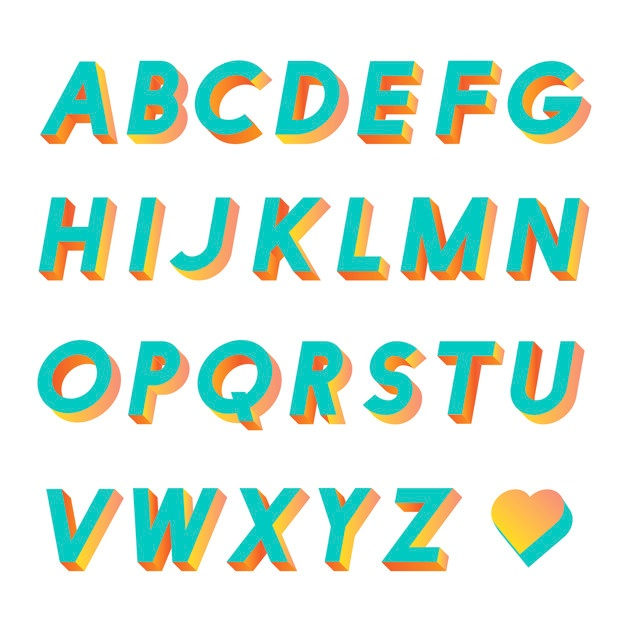 626x626 3d Letters Vectors, Photos And Psd Files Free Download