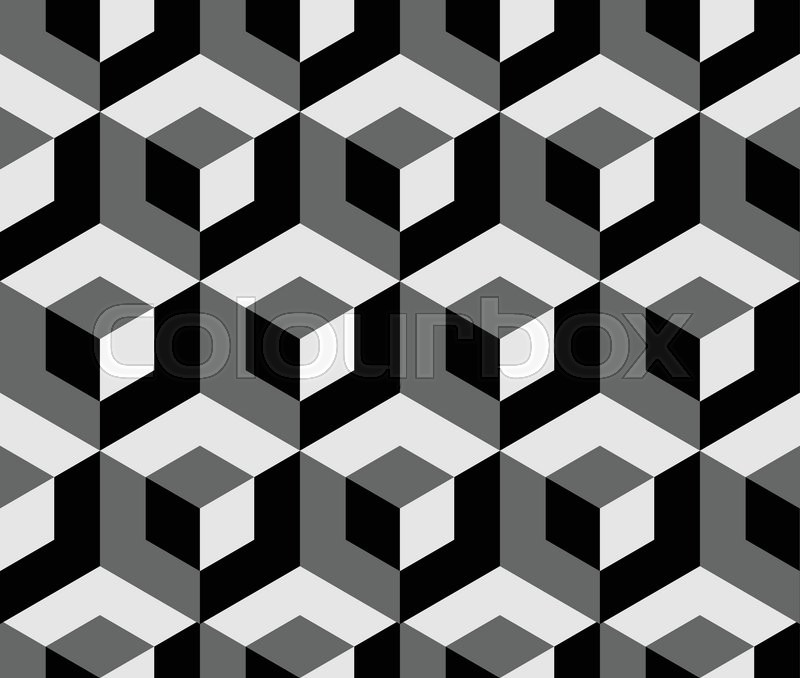 800x678 Abstract Monochrome Pattern With Overlapping Squares. Seamless 3d