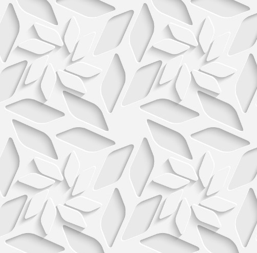 502x495 Free 3d White Flowers Pattern Vector
