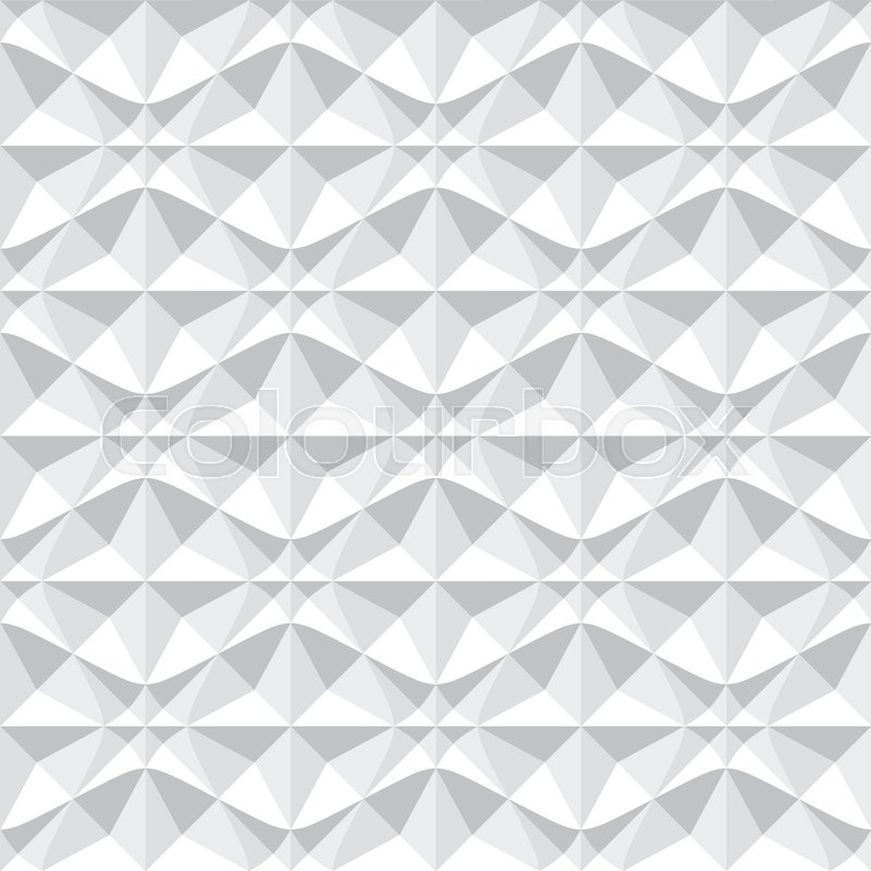 800x800 Seamless 3d Pattern. White Geometric Texture. Vector Art. Stock