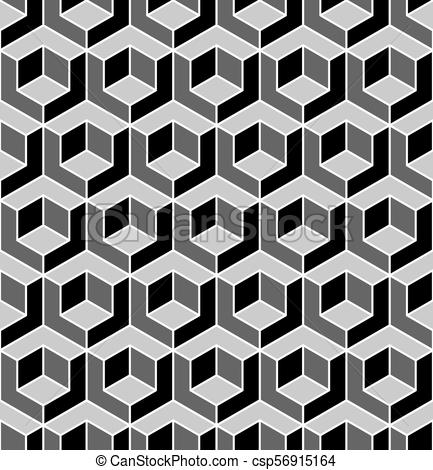 433x470 Seamless Geometric Pattern. 3d Illusion. Seamless Geometric