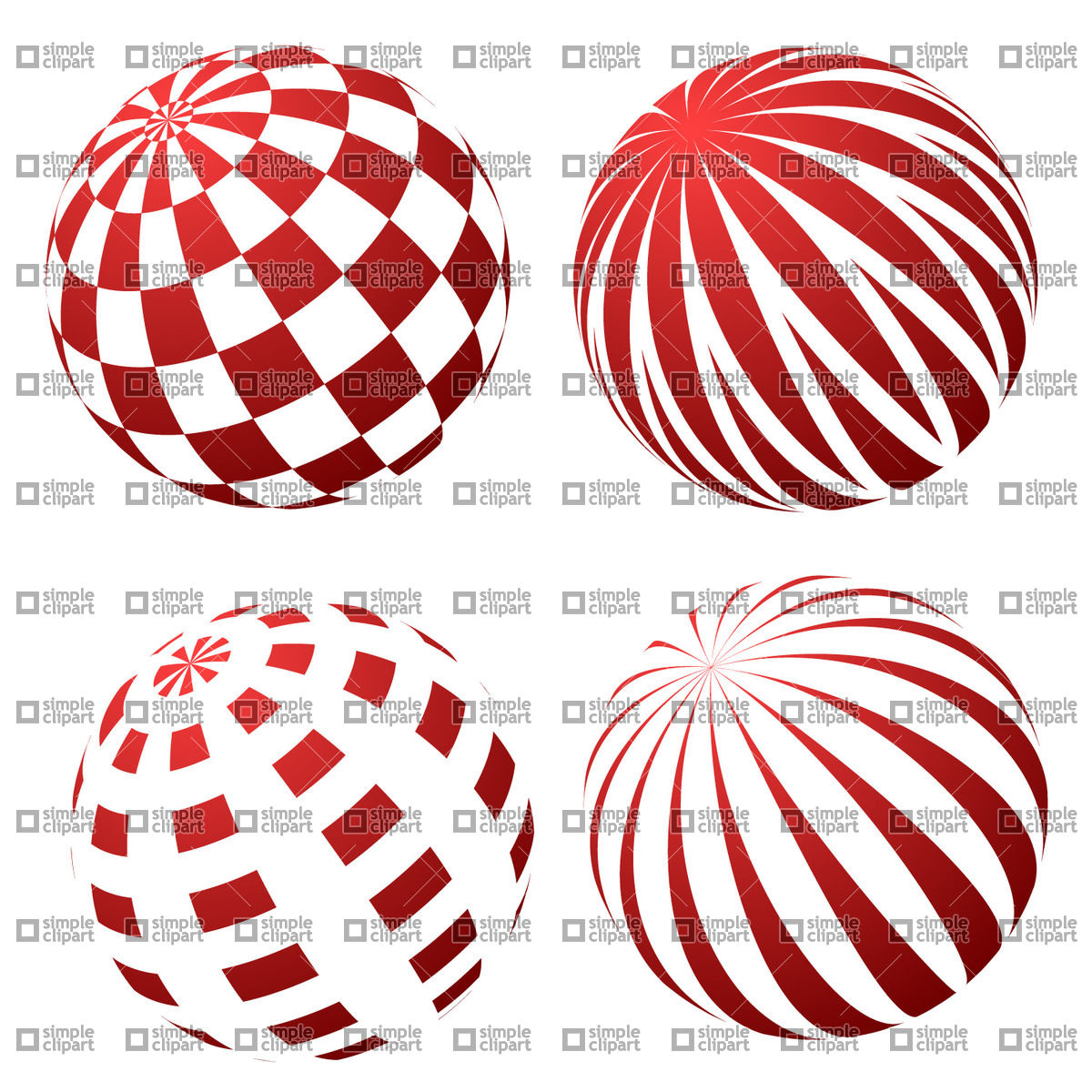 1200x1200 3d Spheres With Patterns Vector Image