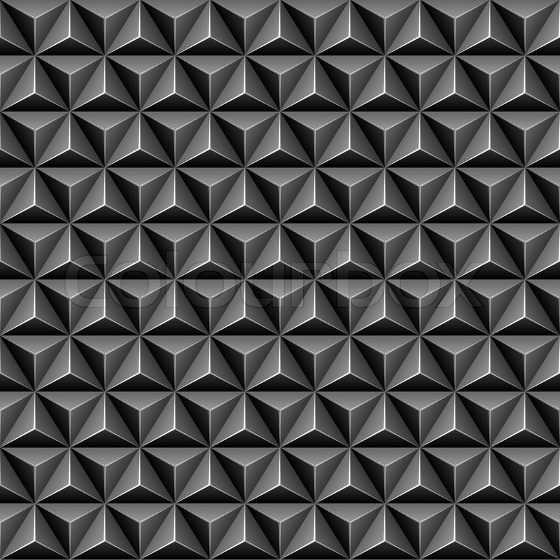 800x800 3d Triangle Seamless Pattern, Vector Illustration 4 Your Design