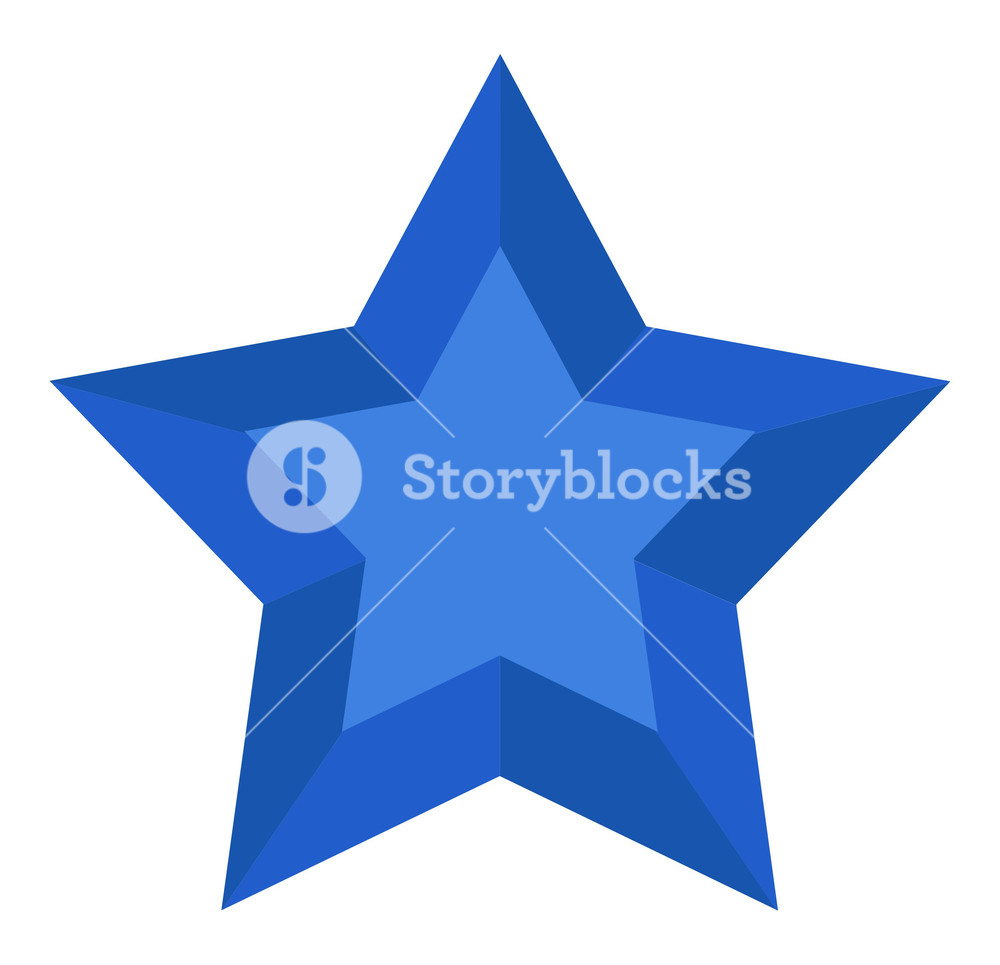 1000x965 Blue 3d Star Vector Royalty Free Stock Image