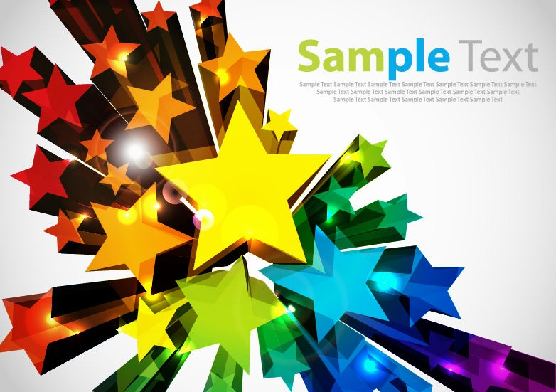 782x551 Colorful 3d Stars Vector Background Free Vector Graphics All