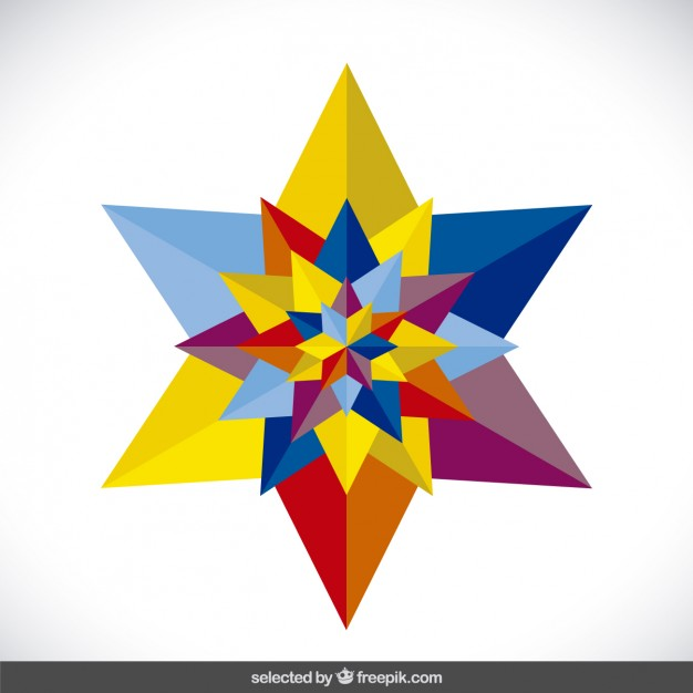 626x626 Colorful Beautiful 3d Star Vector Free Download