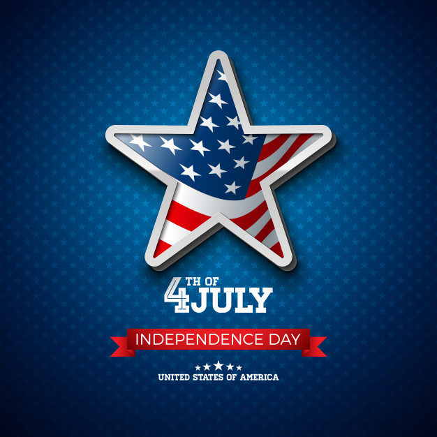 626x626 Independence Day Of The Usa Illustration With Flag In 3d Star