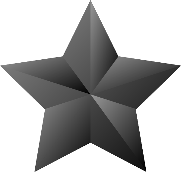 600x571 Star Vector Black And White Stock 3d