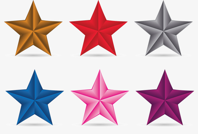 650x442 3d Vector Star Pattern In Different Colors, Star Vector, Pattern