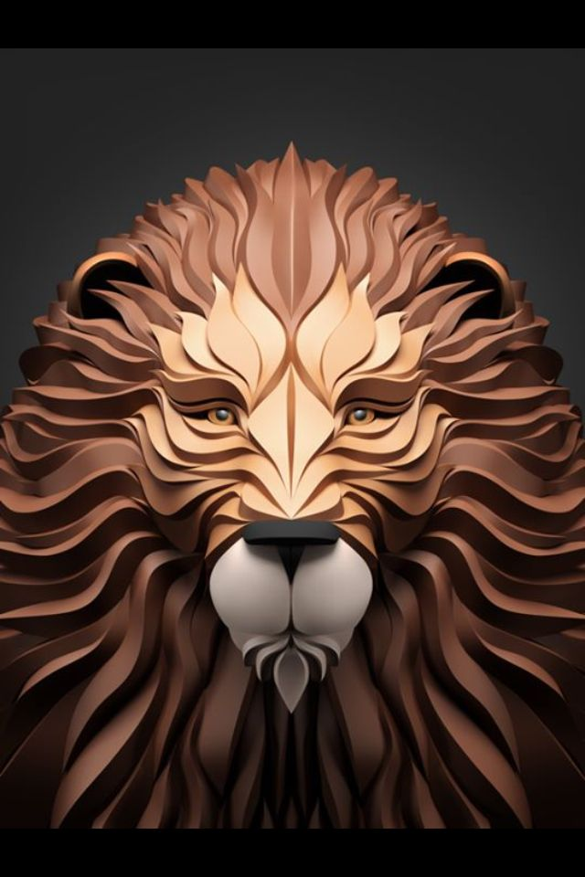 640x960 Lion Vector 3d Lion In 2018 Lion Vector, 3d And