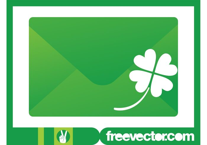 700x490 Envelope And Clover Vector 119418