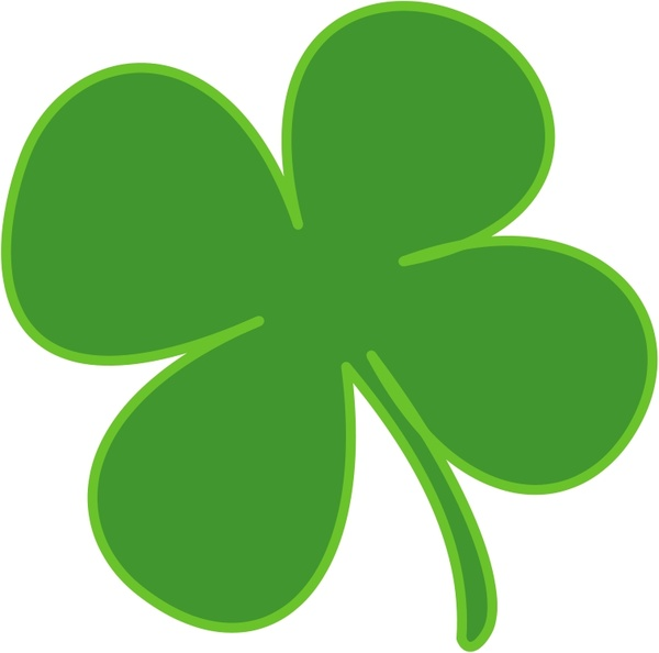 600x594 4 Leaf Clover Free Vector In Open Office Drawing Svg ( .svg