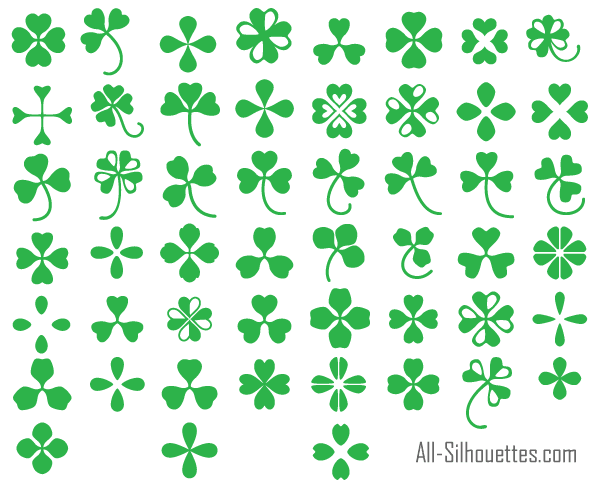 600x485 11 Clover Vector Free Download Images