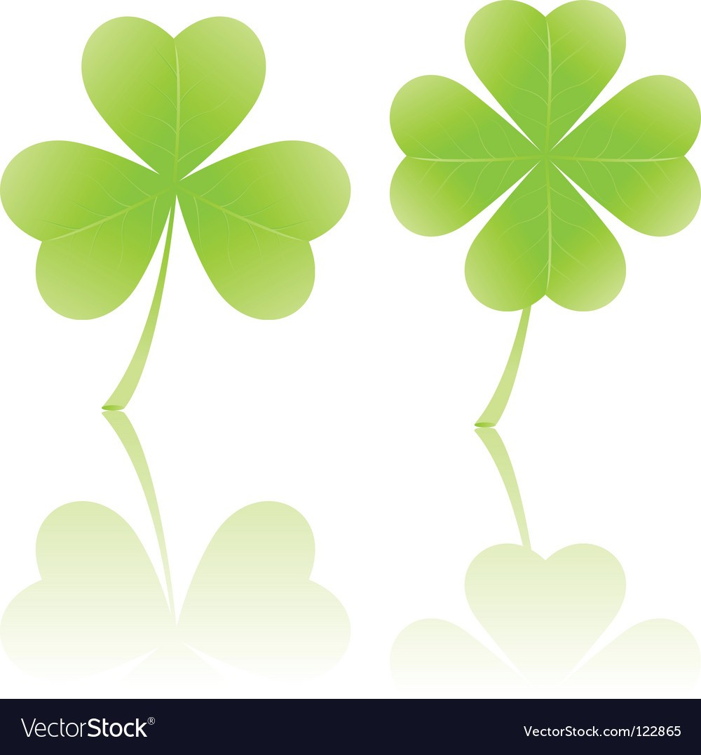 1000x1076 Four Leaf Clover And Shamrock Vector 122865 Images Free 4