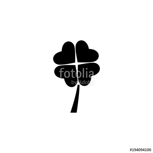 500x500 Four Leaf Clover Vector Icon Stock Image And Royalty Free Vector
