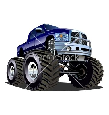 380x400 Cartoon Monster Truck Vector Trucks Yah Cartoon