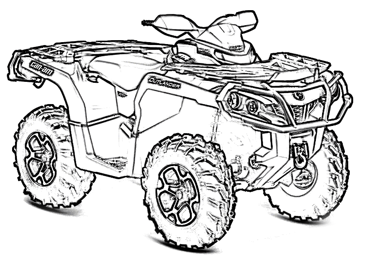770x539 Four Wheeler Drawing 2265354
