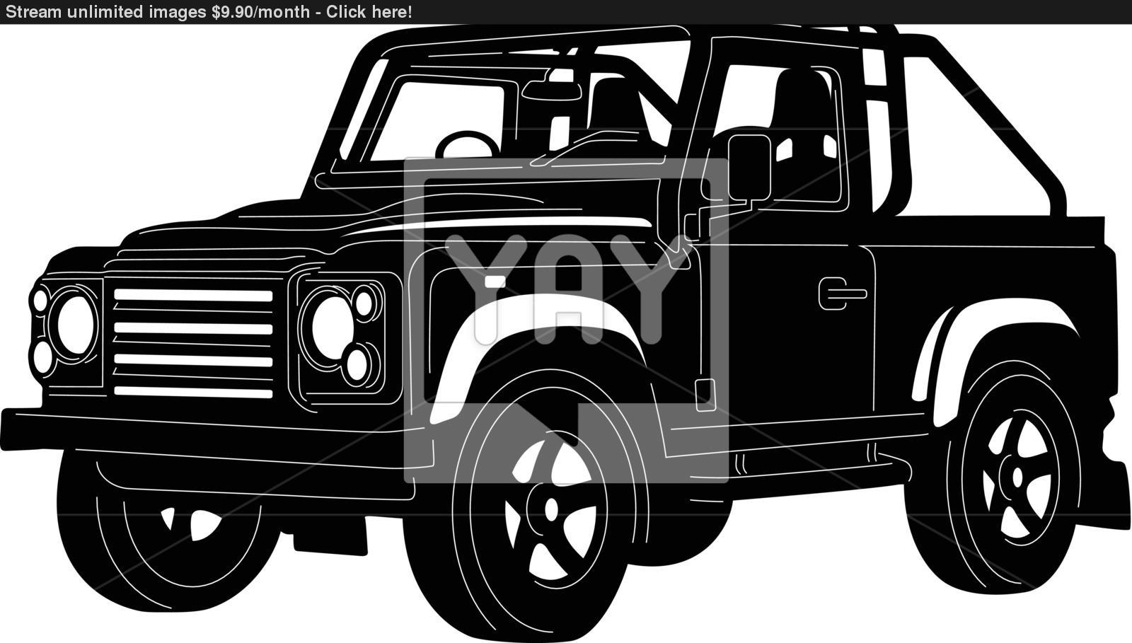 1600x909 4x4 Truck Silhouette Vector