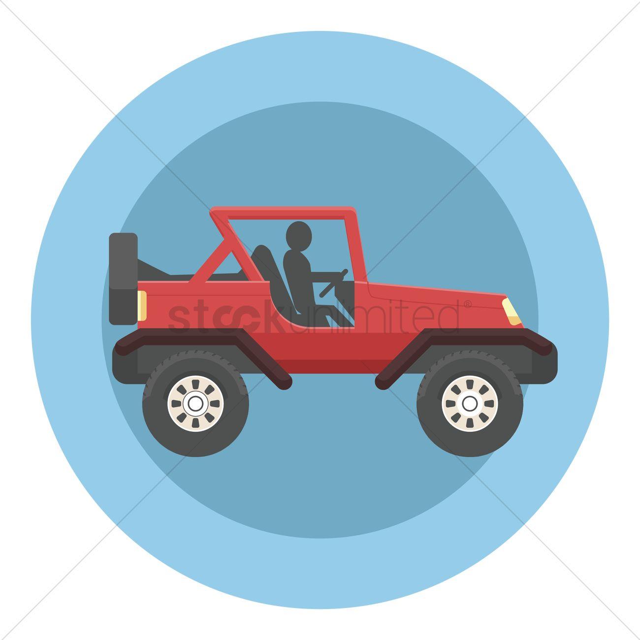 1300x1300 4x4 Truck Vector Image