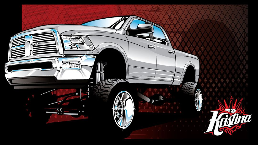 1080x607 Chevy 4x4 Vector Clip Art, Dodge 4x4 Vector Clip Art