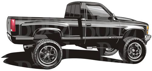 500x235 Dodge Clipart 4x4 Truck